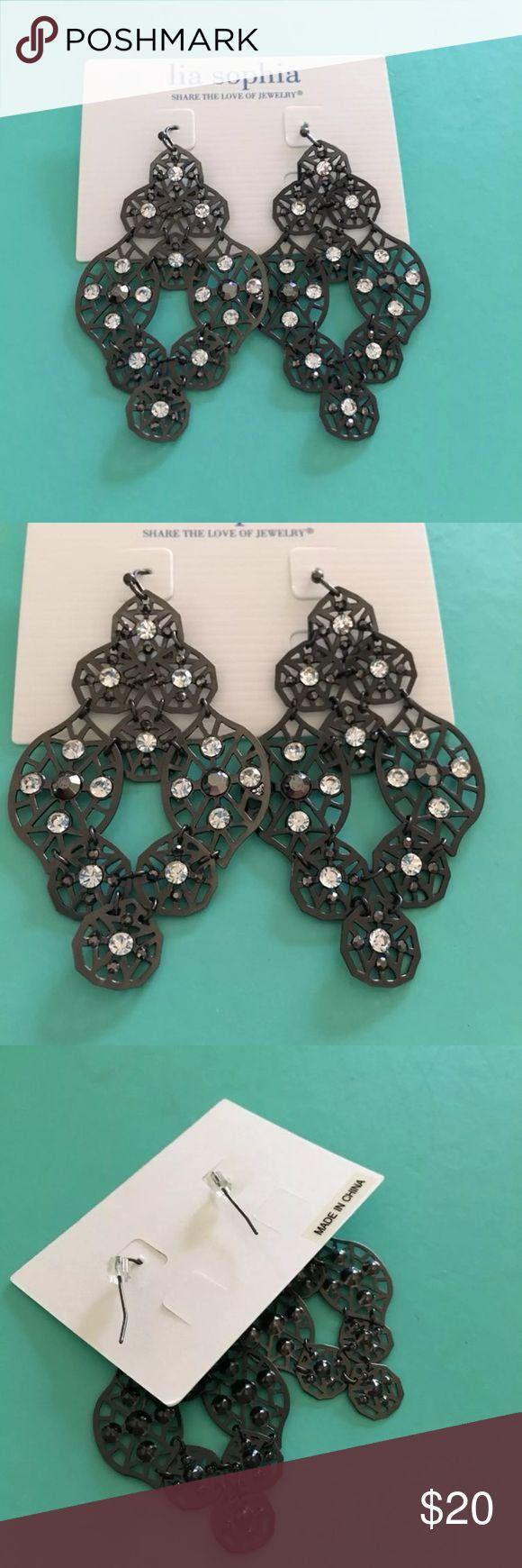 Lia Sophia Scruples Earrings New in Box Price is Firm Lia Sophia Scruples Earrings Lia Sophia Jewelry Earrings