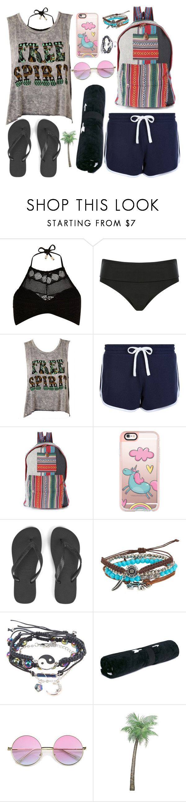 """""""✖️Beach Please✖️"""" by kirstymilli99 ❤ liked on Polyvore featuring River Island, M&Co, New Look, Rising International, Casetify, Havaianas, Aéropostale and The Upside"""