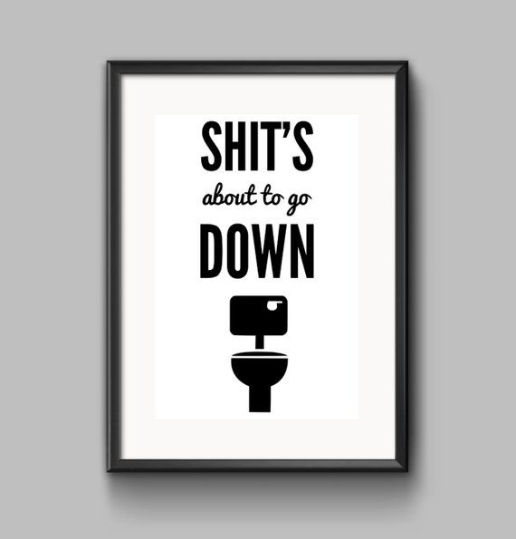 """FUNNY SIGN CHRISTMAS GIFT BATHROOM TOILET RULES IDEAL GIFTS 8/"""" X 4/""""  20CM X 10CM"""