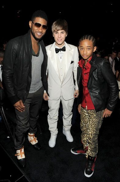 Usher, Justin Bieber, and Jaiden Smith