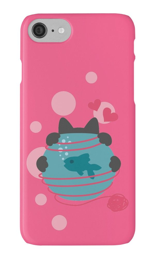 Pink Wool Web  by XOOXOO  Cat with an aquarium  iPhone Cases & Skins  PHONE CASE FOR IPHONE 4/4S/5/5C/5S/6/6 PLUS/ 7/7 PLUS