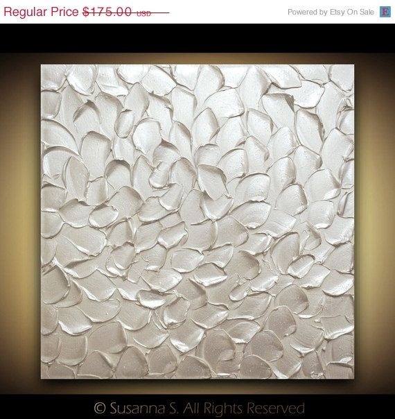ORIGINAL White Painting Abstract Textured door ModernHouseArt, $157.50