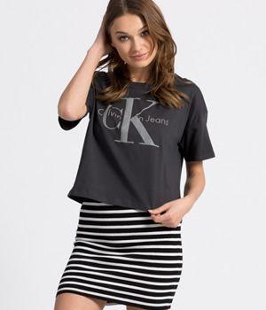 Tricou dama Calvin Klein scurt din bumbac