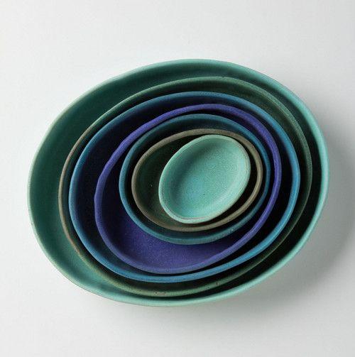 Nested Baker Set ceramics by Judy Jackson via Design*Sponge