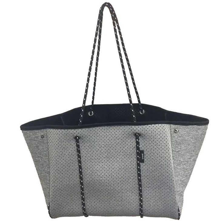 Punch | Neoprene Tote Bag in Marle Grey
