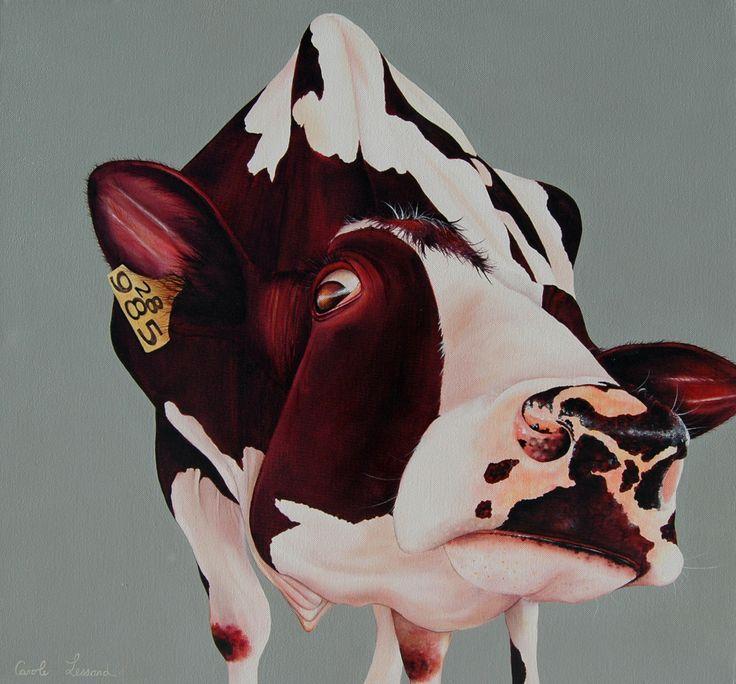 Cow Bernadette 24''x 24'' acrylic on canvas. $650