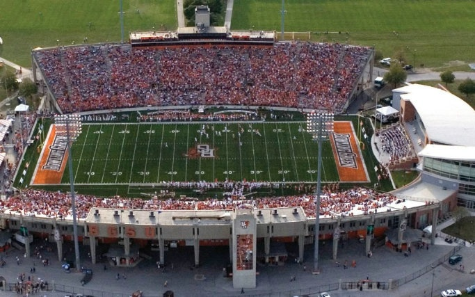 Doyt L. Perry Stadium (Bowling Green State University Falcons)- i spent many hours in the athletic training room/practice fields here!