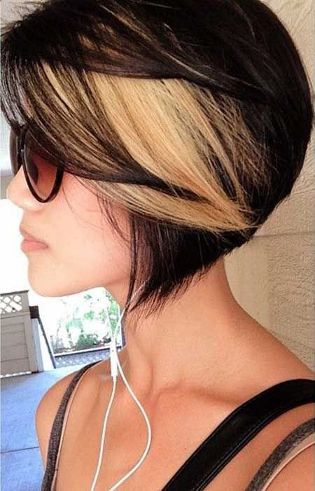 Great Hair Colors for Short Hair | 2013 Short Haircut for Women. See this is what Id be stuck with if I frosted my hair. I dont like the dark and the stark white, Im too old.