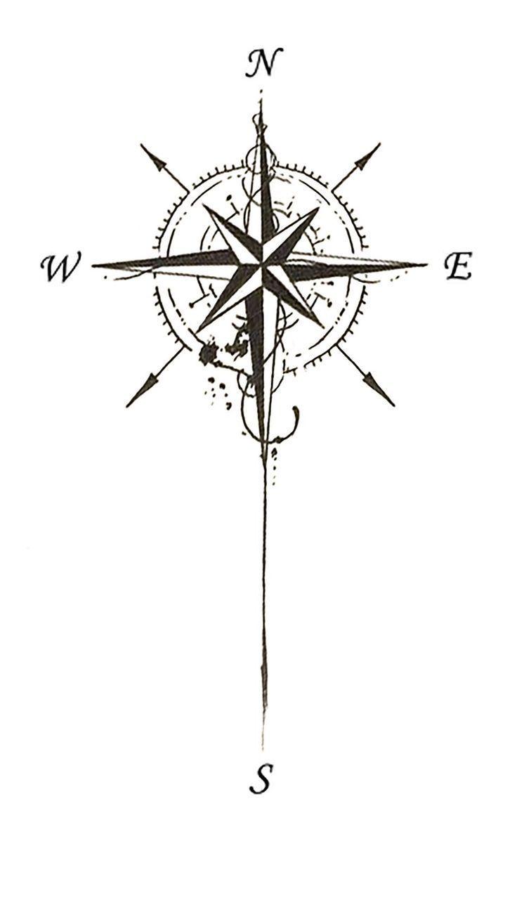 Bildergebnis für Tattoo-Kompass #Tattoos #Ale