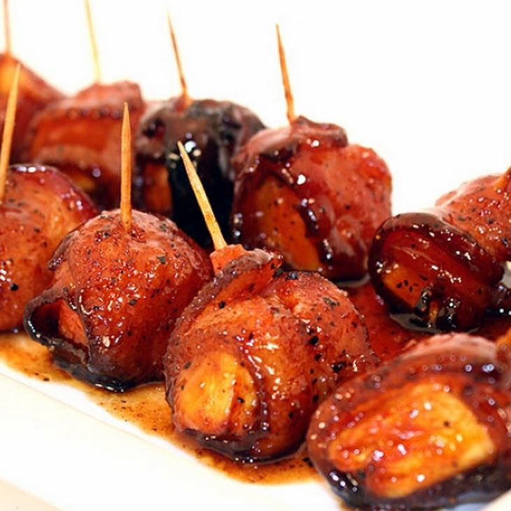 Bacon Wrapped Pineapple Recipe, good alternative for bacon wrapped sausages!
