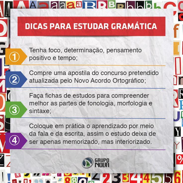 Dicas para Estudar Gramática...