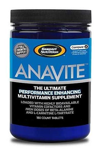 ANAVITE es un suplemento avanzado que combina 3 suplementos en 1. Fusiona una mezcla perfecta de multivitaminas y minerales con Beta-Alanina y Carnipure™ (L-Carnitina L-Tartrato) para aumentar los niveles de óxido nítrico reduciendo el tiempo de recuperación, y el rendimiento atlético.