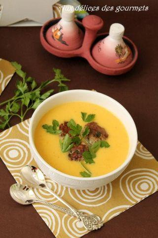 velouté de carottes aux boulettes à la marocaine