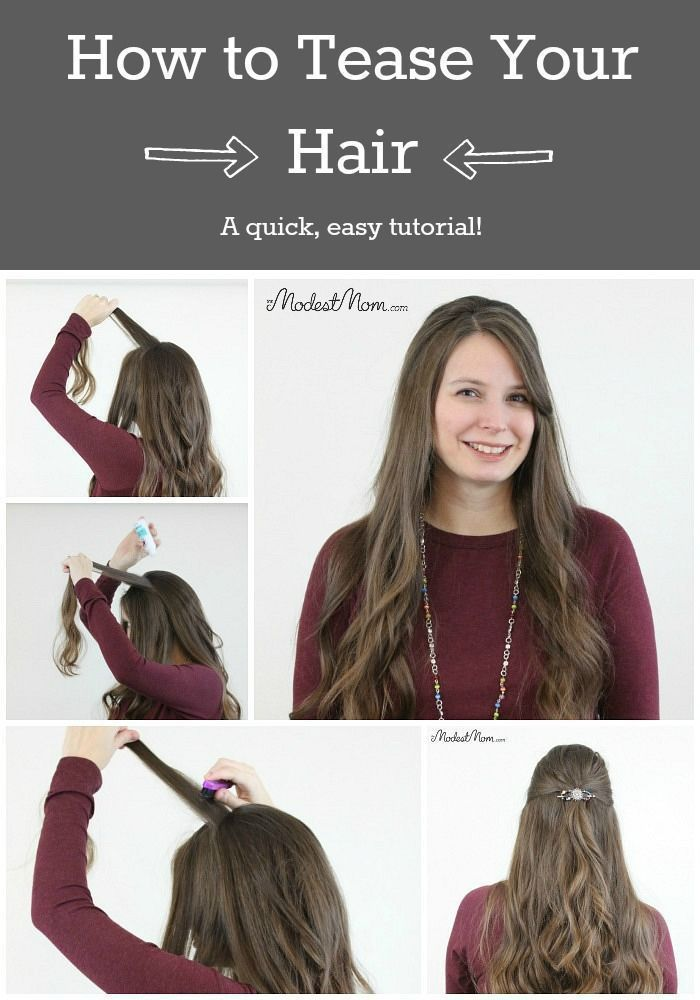 How To Tease Your Hair Back Comb In A Few Easy Steps Easy Work Hairstyles Hair Styles Easy Hairstyles