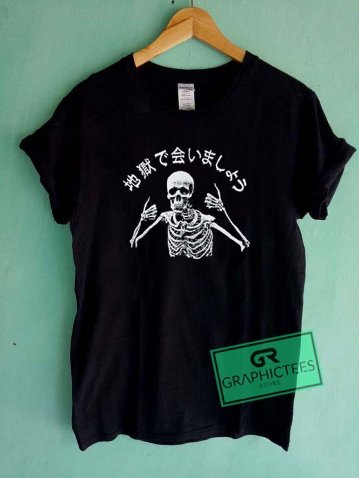Skeleton Japanese Vintage Graphic Tees Shirts //Price: $13.50 //     #trendy gra…