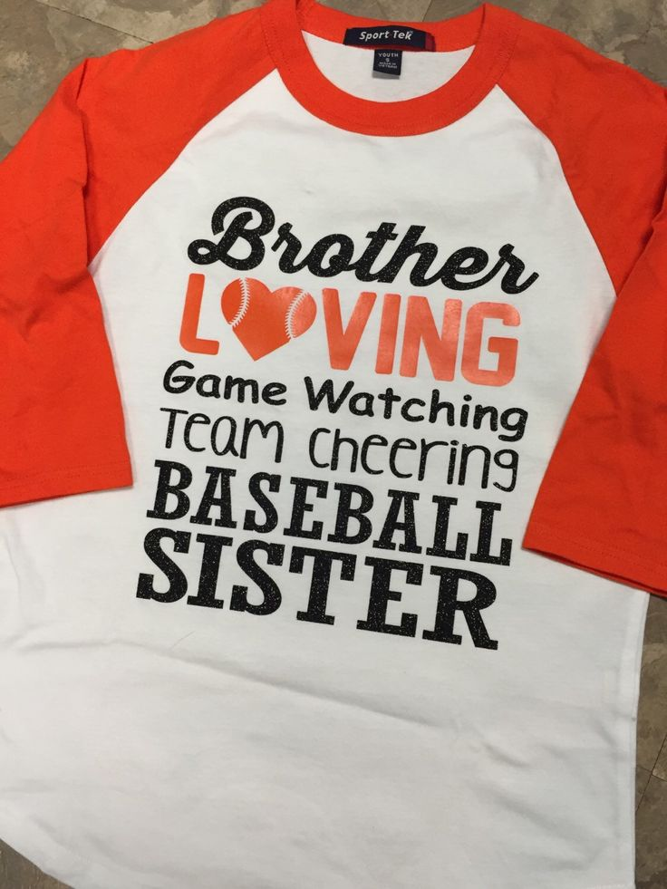 A personal favorite from my Etsy shop https://www.etsy.com/listing/273567526/girls-baseball-sister-graphic-baseball
