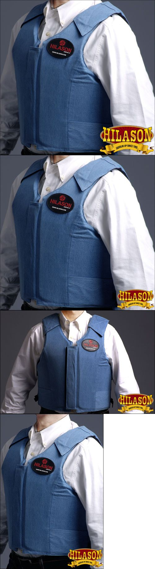 Other Protective Gear 87446: Pv102- Hilason Denim Bareback Pro Rodeo Bull Riding Protective Vest Blue -> BUY IT NOW ONLY: $119.99 on eBay!