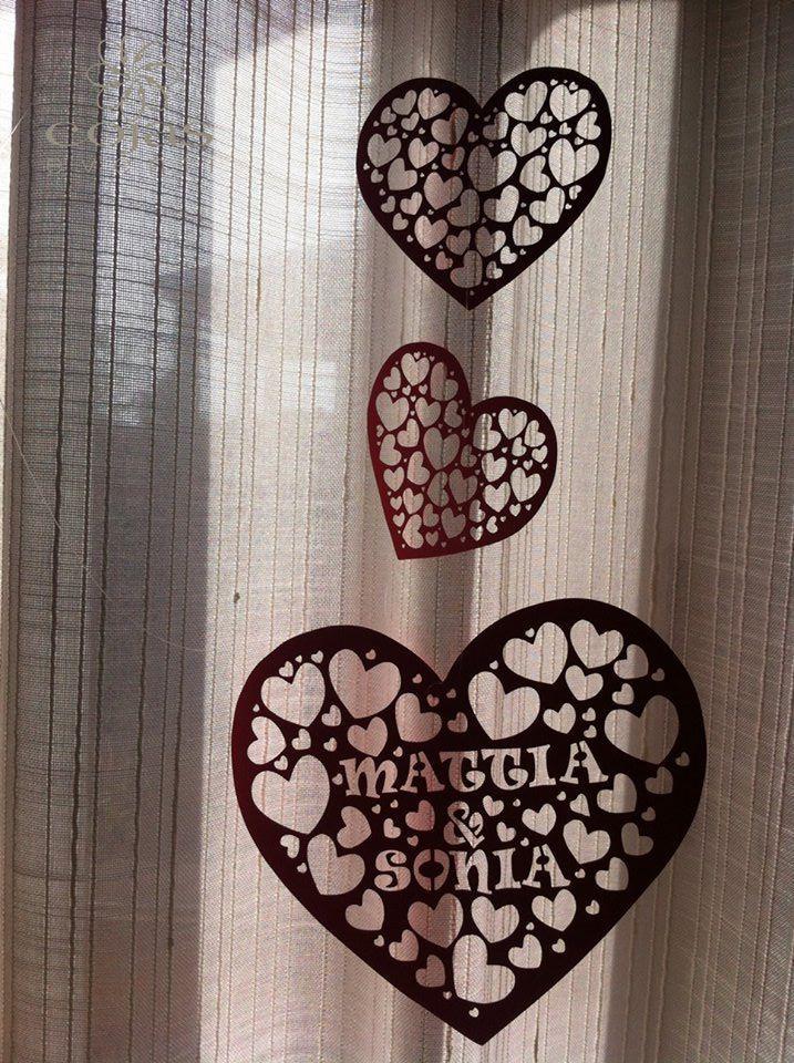 Ghirlanda personalizzata in cartoncino traforato. fatto a mano cœcojaseventi.com https://www.facebook.com/pages/Cojas-Eventi-Wedding-Planner-Sardegna/192376730792148?ref=hl