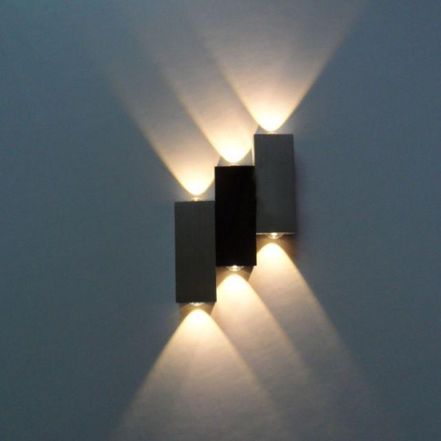 Lampara De Pared Interior 6 W Led Lampara De Arriba Abajo Luminaria Aluminio Discoteca Pasill Iluminacion De Pared Lamparas De Pared Modernas Lamparas De Pared