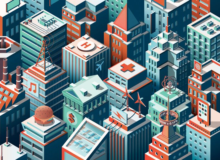 FORTUNE 500 - Industry rankings illustrations on Behance