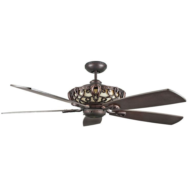 "Concord Fans 60"" Aracruz Oil Rubbed Bronze Large Ceiling Fan with Up-Light"