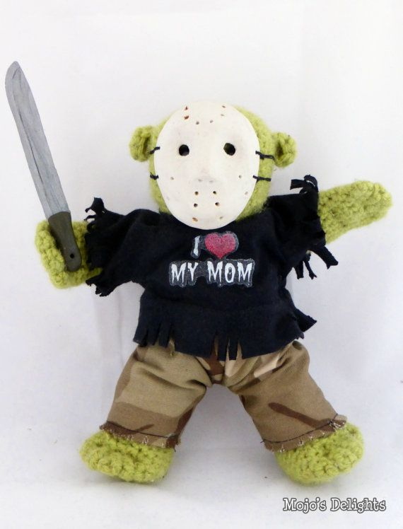 Crocheted Zombie Doll 'Jason' by MojosDelights on Etsy
