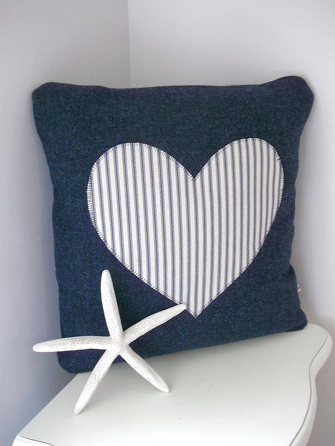 Heart Appliqué Beach House Collection Cushion