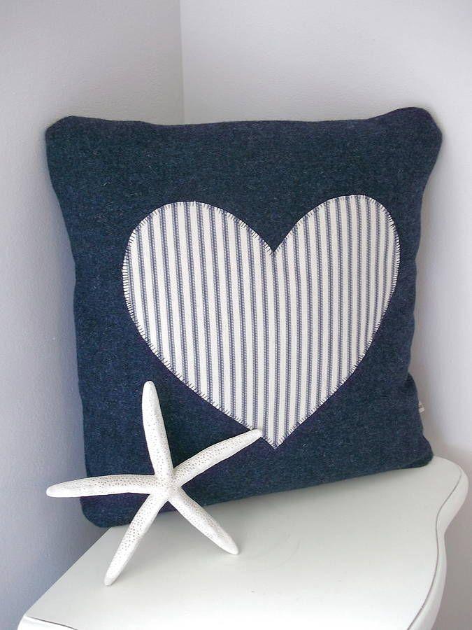 Heart Appliqué Beach House Collection Cushion