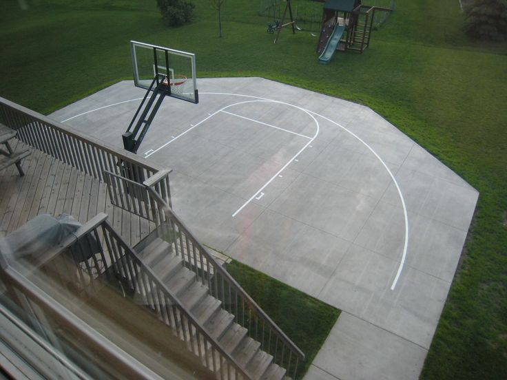 79 best backyard court designs images on pinterest for Cost to build a backyard basketball court
