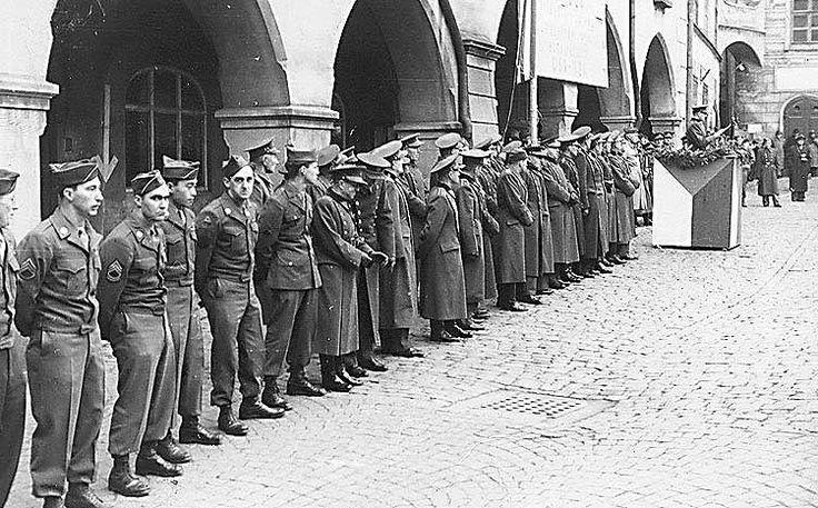 Osvobození Českého Krumlova 1945, americká armáda, vyznamenání řádem Bílého lva za statečnost