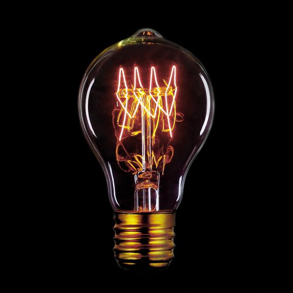 """ЛАМПА ЭДИСОНА А60 С НИТЬЮ """"ГОРИЗОНТАЛЬНЫЙ ЗИГ-ЗАГ"""" Ретро лампа классической формы – правильный выбор для ресторанов, лофтов, кафе и баров.   #дизайнинтерьеров #освещение #design"""