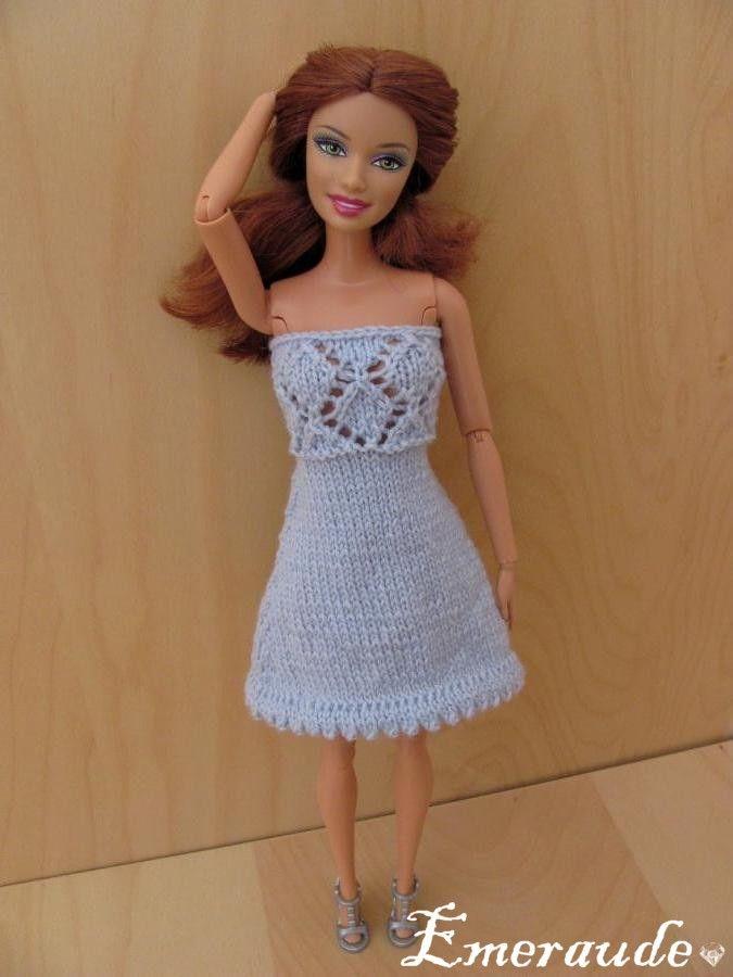 Tricot Barbie: Robe d'été n°17