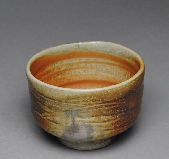 John McCoy Pottery Tea Bowl Wood Fired Chawan  G94