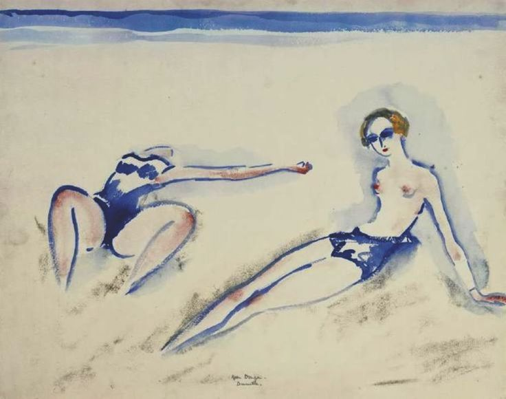 madivinecomedie:  Kees van Dongen. Bathers at Deauville 1920See also