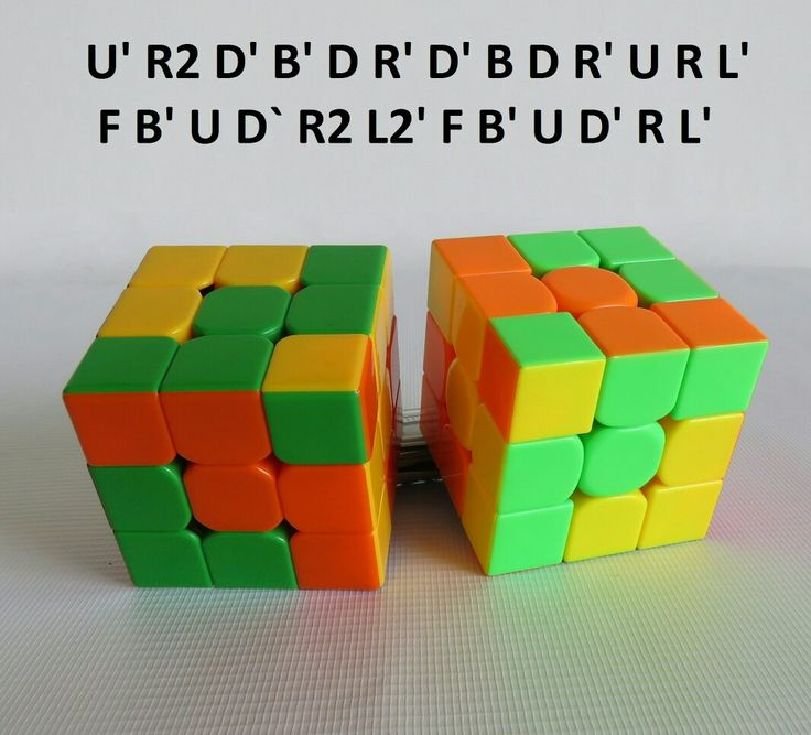 Patron Cubo Rubik 3x3 Figura N. 6 por WL Rubik 3x3