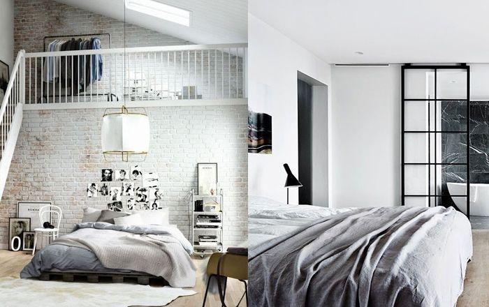 Mauerwerk im Schlafzimmer