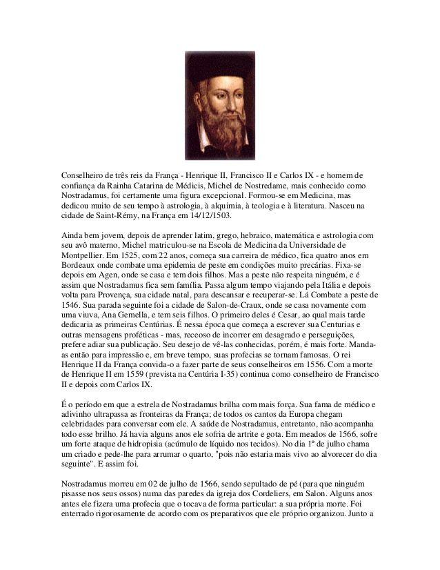 Curiosidades Ocultas As Profecias De Nostradamus Livro Pdf Gratis As Profecias Livro Nosso Lar Livro Virtual