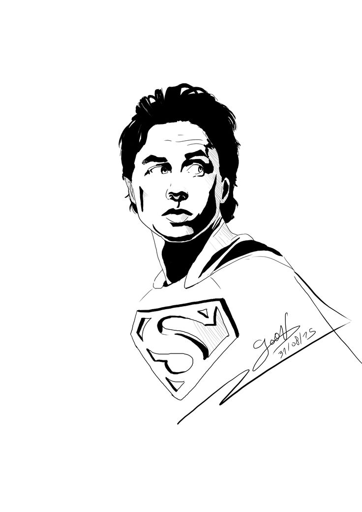 Mon illustration de Zach Braff en Superman avec ma wacom intuos 3 Fan Art