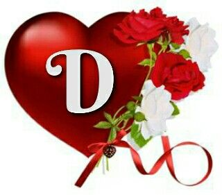 Letter D, Diana, Hearts, Costumes, Red Hearts, Frames, Names, Initials,  Families