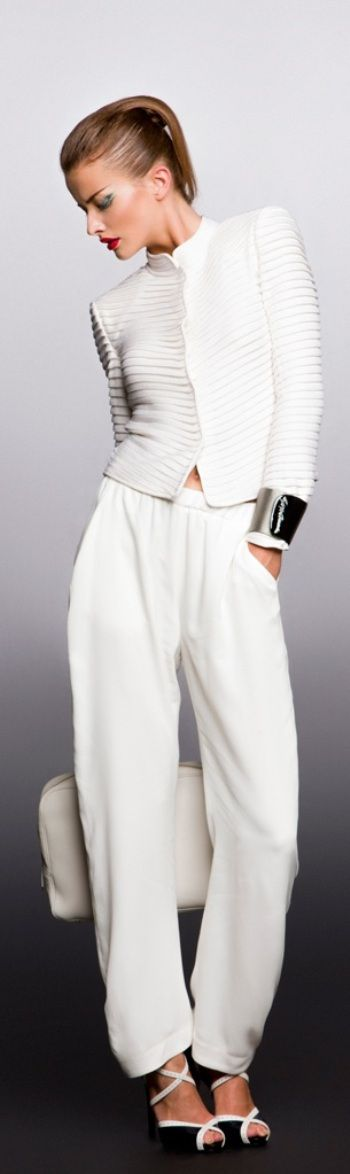 Giorgio Armani ~  love the softness of this outfit... like look but would be way down on the buy list.