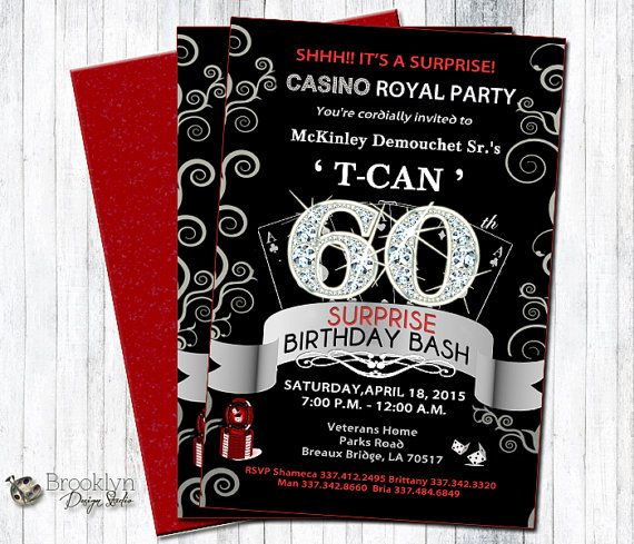 Custom casino party invitations casino blackjack card counting