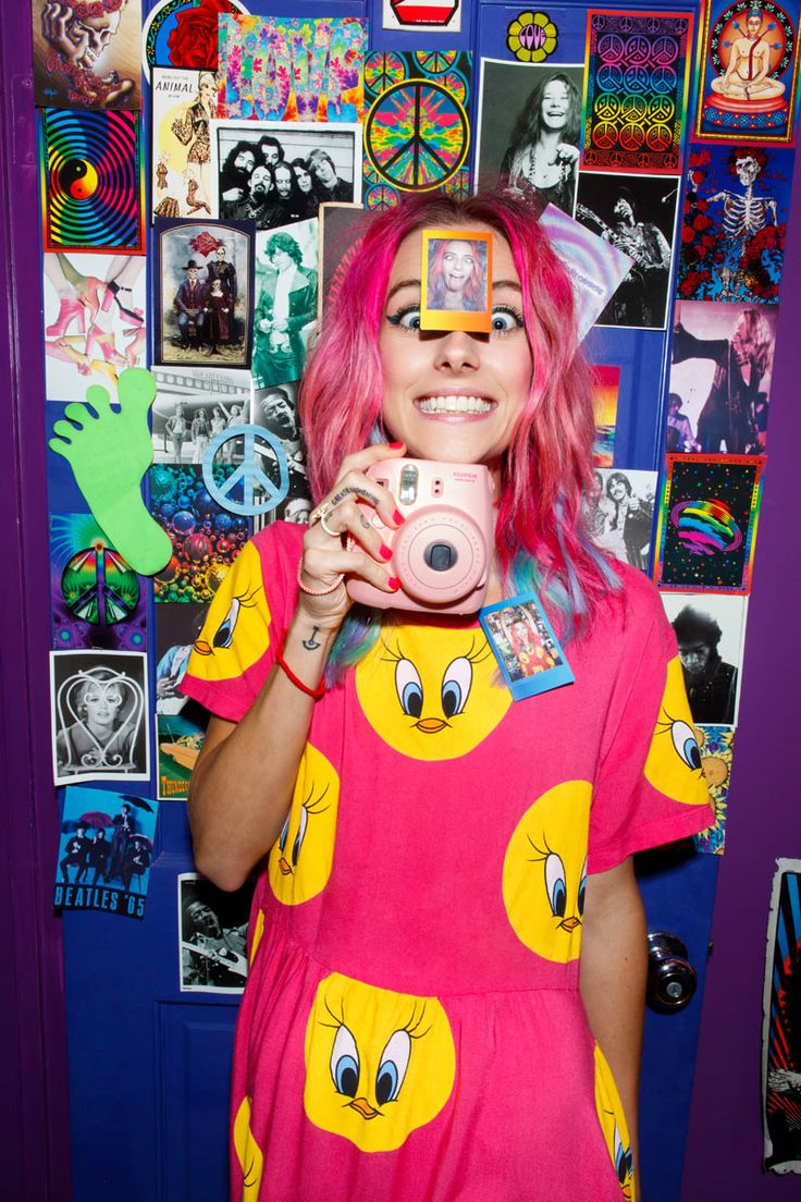 Chloe Norgaard Models Neon Style for Nasty Gals Gift Lookbook