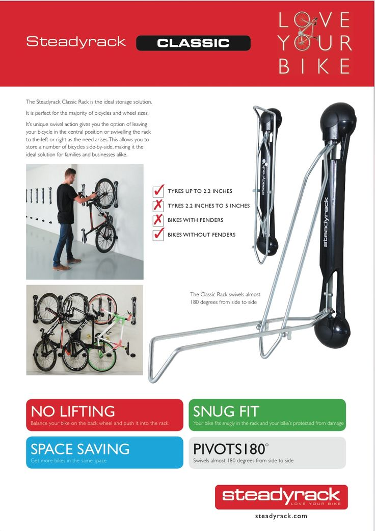 The Steadyrack bike parking rack is the best bike storage solution when it comes to bike parking. Hang bikes as close as 350mm together safely, and securely