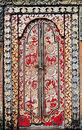 Bali - wooden door