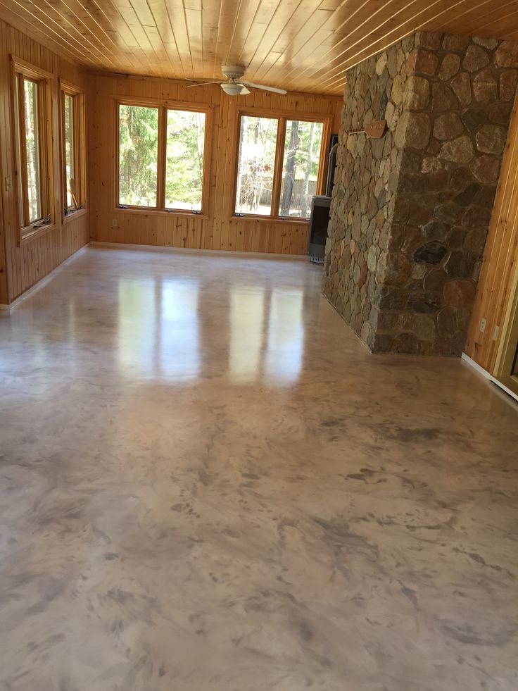 Metallic epoxy floor coating with satin non slip finish by - Interior concrete floor resurfacing ...