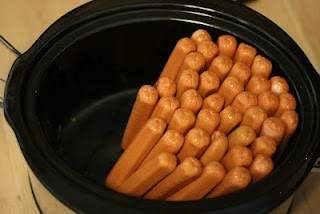 crockpot hotdogs!!  Oh my word this is going to save Ryan so much time!!!