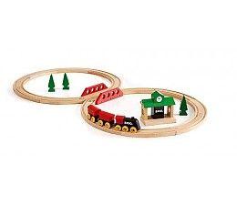 Brio treinen Klassieke treinset  Een perfect beginnerspakket voor kinderen met de klassieke spoorweg en wagons.  Deze set is combineerbaar met alle BRIO treinen en de BRIO wegen.  http://www.brio-trein.nl/brio-treinen-33028-klassieke-treinset.html