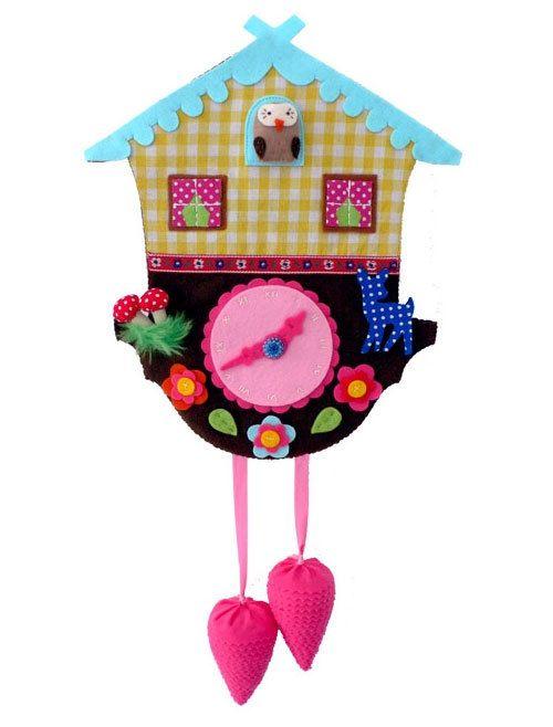cute felt clock