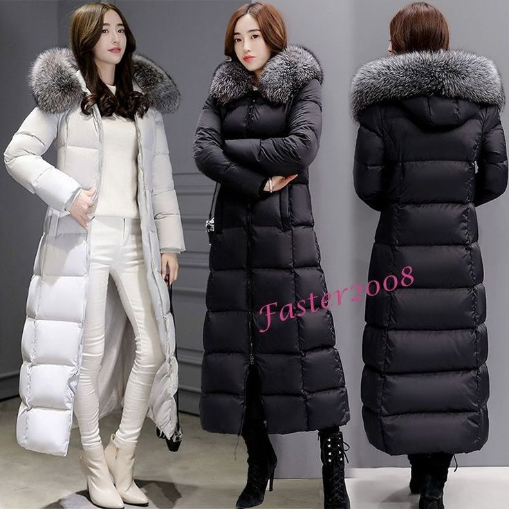 Winter Women's Maxi Long Duck Down Coats Warm Slim Jackets Fur Collar Overcoats #Unbranded #BasicCoat #Casual