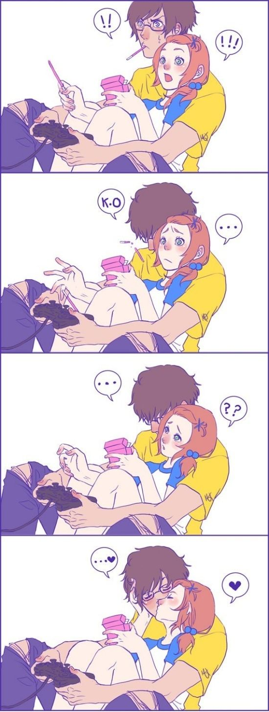 This kind of looks like James & Lily if they had video games in the magical world. ;-)